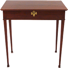 Hepplewhite Mahogany Side Table With Lift Top