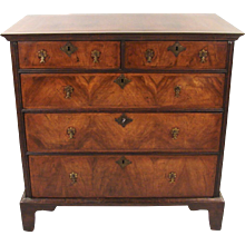 George II Provincial Walnut and Oak 5 Drawer Chest