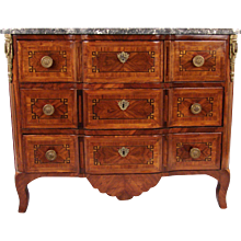 Louis XVI French Parquetry Inlaid Chest