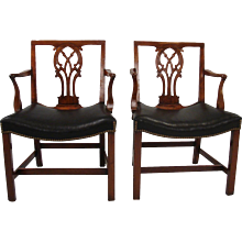 Georgian Mahogany Armchairs