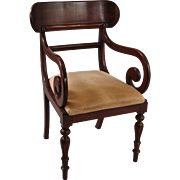 Regency Style Mahogany Armchair by Ralph Lauren