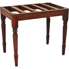 Victorian Mahogany Luggage Stand in the Manner of Gillows