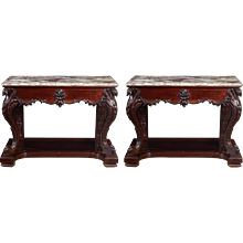 19th Century Chinese Export Console Tables