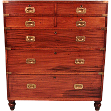 Irish Mahogany Campaign Chest