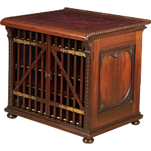 Leather-Top Library Cabinet