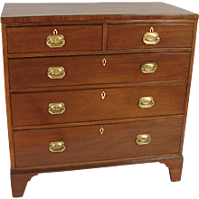 George III Mahogany 5 Drawer Dresser