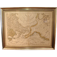 Russian Map of Discoveries by Sayer