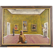 Lithograph of a Museum Interior by Stan Washburn