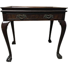 Italian Cabriolet European Walnut Side Table
