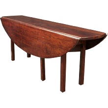"""Elliptical 84"""" Wake Table in Curly Cherry"""