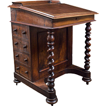 Antique English Davenport Desk