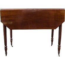 Drop Leaf French Mahogany Table