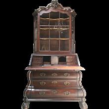Vintage 1800s Oak Dutch Secretaire