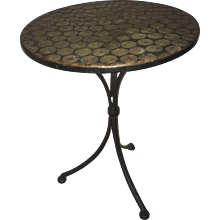 1950's Brass Round Side Table