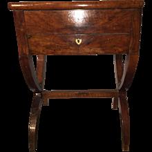 18th Century Walnut Sewing Box on Stand