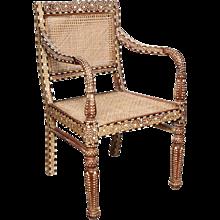 Bone Inlaid Armchair