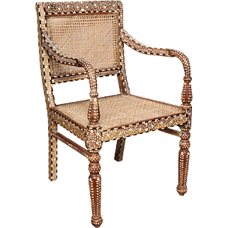 Bone Inlaid Armchair