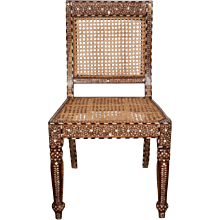 Inlaid Armless Chair From India