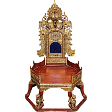 Burmese Monk's Bench