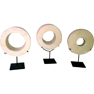 A Selection of Indonesian Stone Wheel  Sculptures