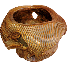A Carved Ironwood Bowl  / Planter From Indonesia