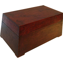 A Painted Wood Betelnut Box, Prism Shaped