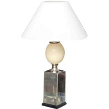 A Faux Ostrich Egg Base Table Lamp