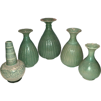A Selection of Thai Ceramic Vases