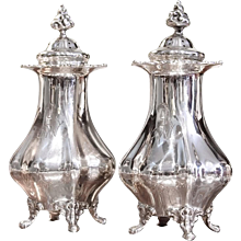 Pair of Large American Sterling Salt and Pepper Shakers by Black, Starr and Frost