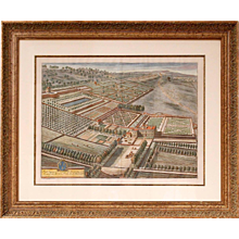 "Bird's Eye View of ""Fair Lawn,"" Kent engraved by Johannes Kip"