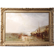 """Sambre on the Meuse,"" by James Baker Pyne (1800-1870)"