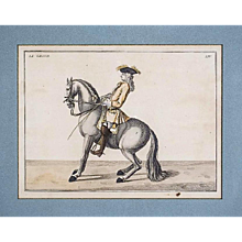 "Set of Four Dressage Engravings from ""Description du manège moderne dans sa perfection,"" 1727"