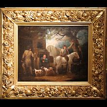 """Sportsman's Return,"" British Oil on Canvas, after George Morland"