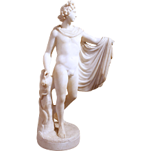 """Apollo"" Italian Carved Alabaster"