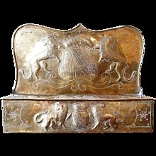 Continental Brass Repoussé Taper Box