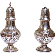 Pair of Dutch Silver Salt and Pepper Shakers