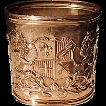 English Copper Repoussé Waste Bin