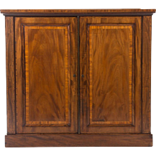 English Inlaid Mahogany Edwardian Period Cabinet