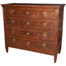 French Directoire Period Carved Oak Commode
