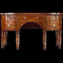 English Mahogany Late Regency Sideboard