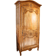 French Normandy Pine Small Armoire (Bonnetière)