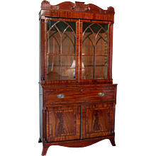 English William IV Mahogany Secretary Bookcase