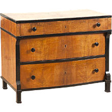 Beidermeier Ash and Fruitwood Commode or Chest of Drawers