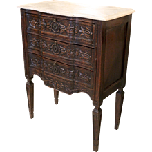 French Provincial Louis XVI Style Mini Commode