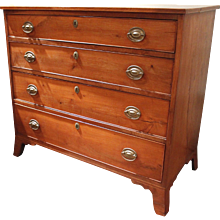 New England Federal Cherry Chest of Drawers