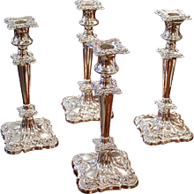 Set of Four Silver Candlesticks