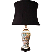 Chiese Export Porcelain Famille Verte Lamp