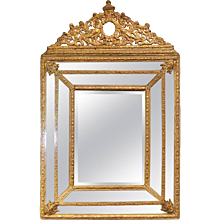 Dutch Gilded Repoussé Cushion Mirror