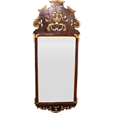 Fine Scandinavian 18th Century Parcel Gilt Mirror