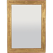 Charles X French Restauration Period Gilt Wood Mirror